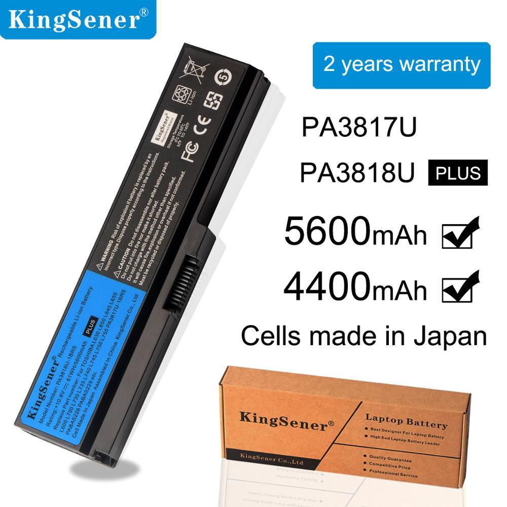 KingSener Original Laptop For Toshiba M600 L600 L730 L650 PA3817U-1BRS PA3817U PA3818U-1BRS PA3634U PABAS117 PABAS228 48WH 6CELL
