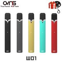 Orijinal OVNS W01 Pod Vape kiti LED göstergesi Pod sistemi kalem tipi elektronik sigara elektronik sigara kitleri için W01 Pod kartuş juul