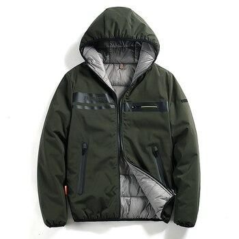 Newest  Parkas Jacket Men Thick Hoodies Coat For Men Casual Zipper Clothes Jacket Man Europe Size 2XL Warm Winter -30 Degree Top