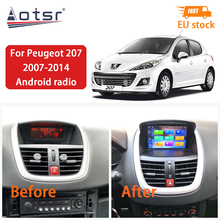 Android 10,0 4 + 64GB Auto Radio Carplay Für Peugeot 207 2007-2014 Touchscreen Autoradio DSP DVD multimedia-Player GPS Navigation