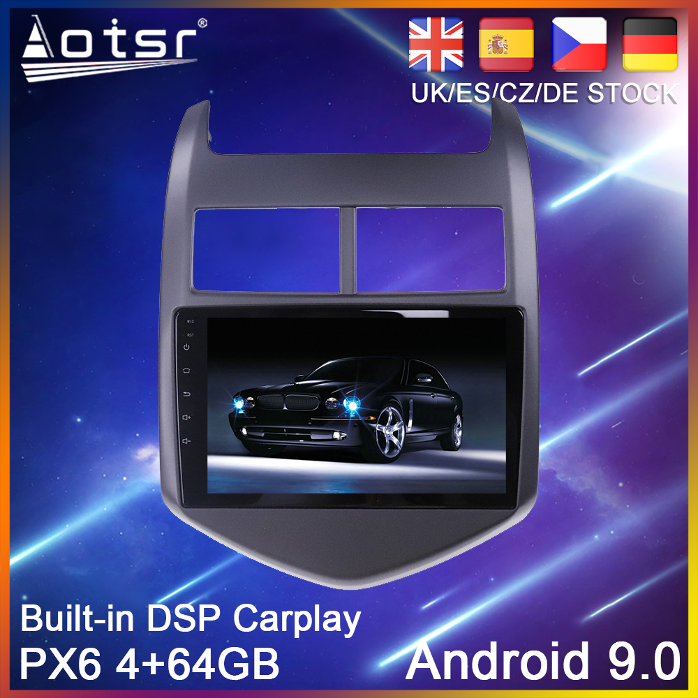 Android 10 PX6 <font><b>Car</b></font> DVD Player GPS Navigation <font><b>For</b></font> <font><b>Chevrolet</b></font> <font><b>Aveo</b></font> 2011 2012 2013-2015 Auto <font><b>Radio</b></font> Stereo Multimedia Player HeadUnit image