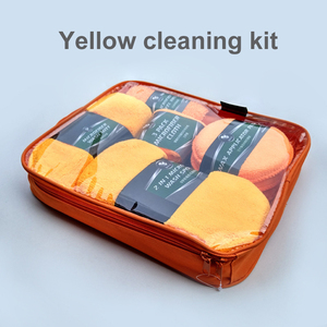 Image 3 - Car Cleaning Kit Car Wash Supplies Microfiber Towel Detailing Car Wheel Brush Waxing Sponge Combination Car Cleaning Tools