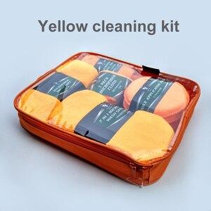 Image 3 - Kit de limpieza para coche, suministros de microfibra, toalla, detalle, cepillo de rueda de coche, esponja para encerar, combinación de herramientas de limpieza de coche
