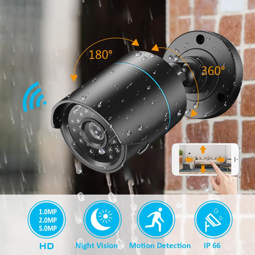 1MP/2MP/5MP Wired IP Camera H.265 Outdoor IP66 Waterproof  WiFi CCTV Camera Home Security Camera Night Vision Video Surveillance