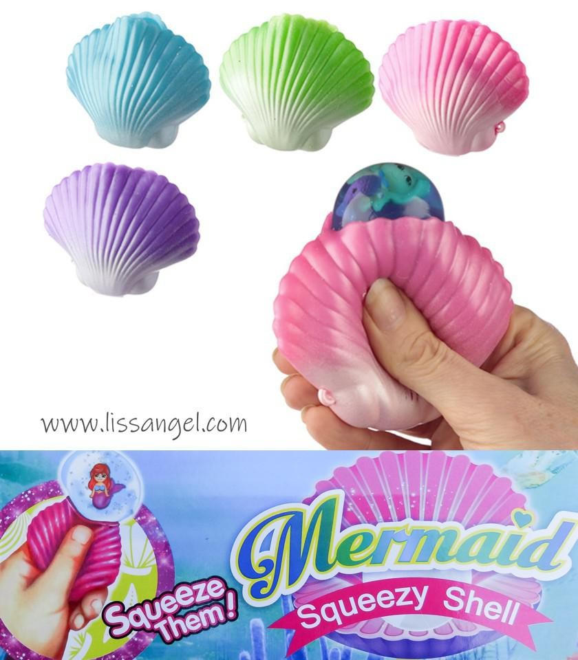 Sea Shell Squishy With Mermaid Inside