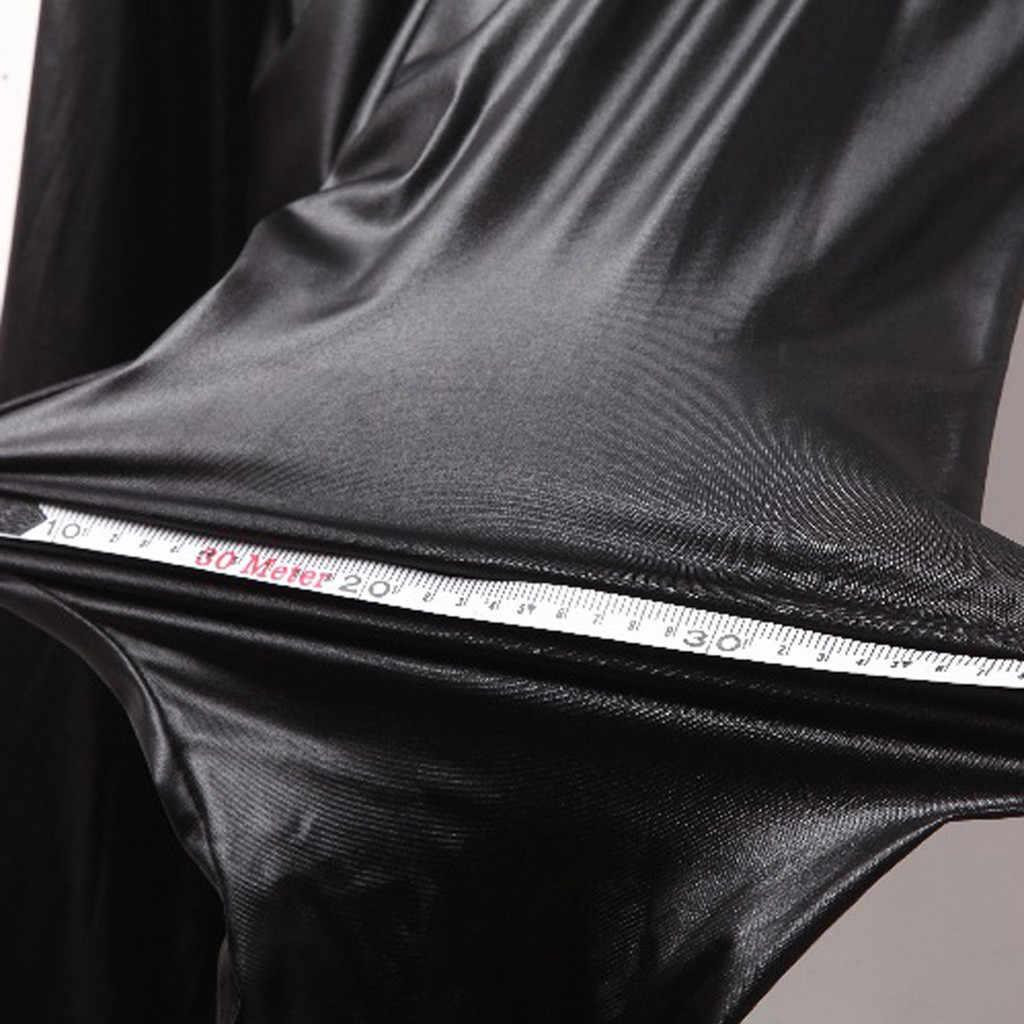 เซ็กซี่ผู้หญิงกางเกงหนังสีดำผอมยาวกางเกงหญิงฤดูใบไม้ร่วงฤดูหนาวสูงเอวกางเกง Slim Tight Bottoms Plus ขนาด