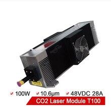 Модуль лазера co2 100 Вт радиочастотный лазерный модуль t100