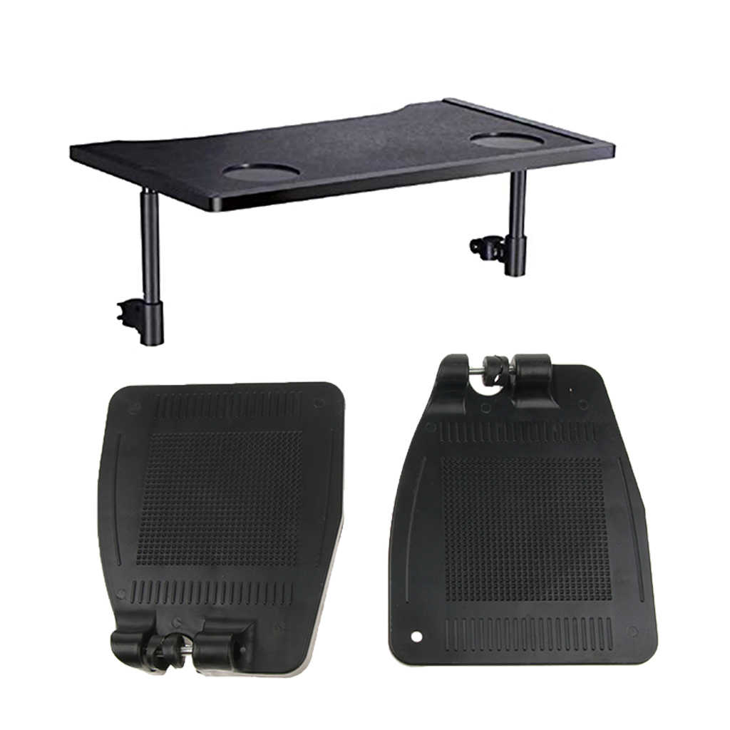 3pcs Wheelchair Accessories Kit, 1pc Wheelchair Tray Table with Two Cup + 2pcs Wheelchair Footrests for Disabled Patients