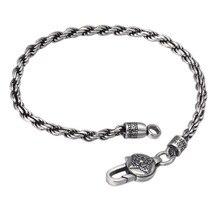 цена 925 Sterling Silver Buddha Bracelet Women Men Mantra Scripture Bracelet Bangle Jewelry Gift онлайн в 2017 году