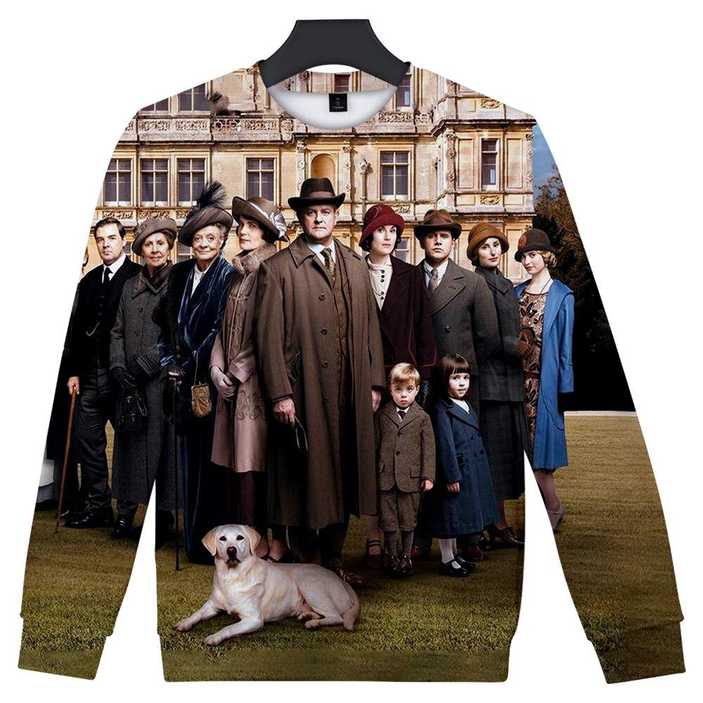Downton Abbey Print Hoodie/Sweatshirt/Jacket/shirts Mens Womens Hip Hop Apparel Fan Costume