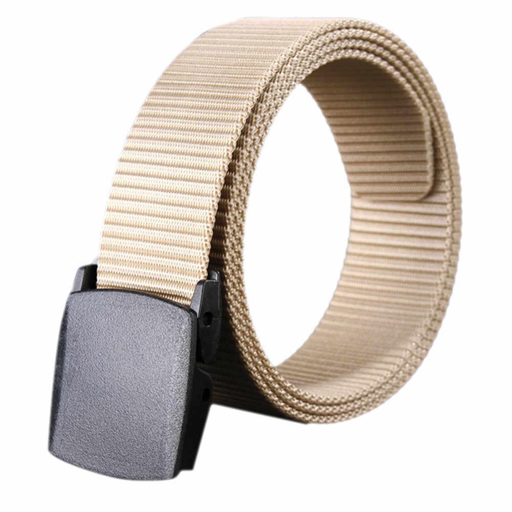 אבזם אוטומטי גברים בד חגורה מגנטי אלסטי טקטי חגורות זכר ניילון חיצוני אימון חגורת נשים רצועת חגורות