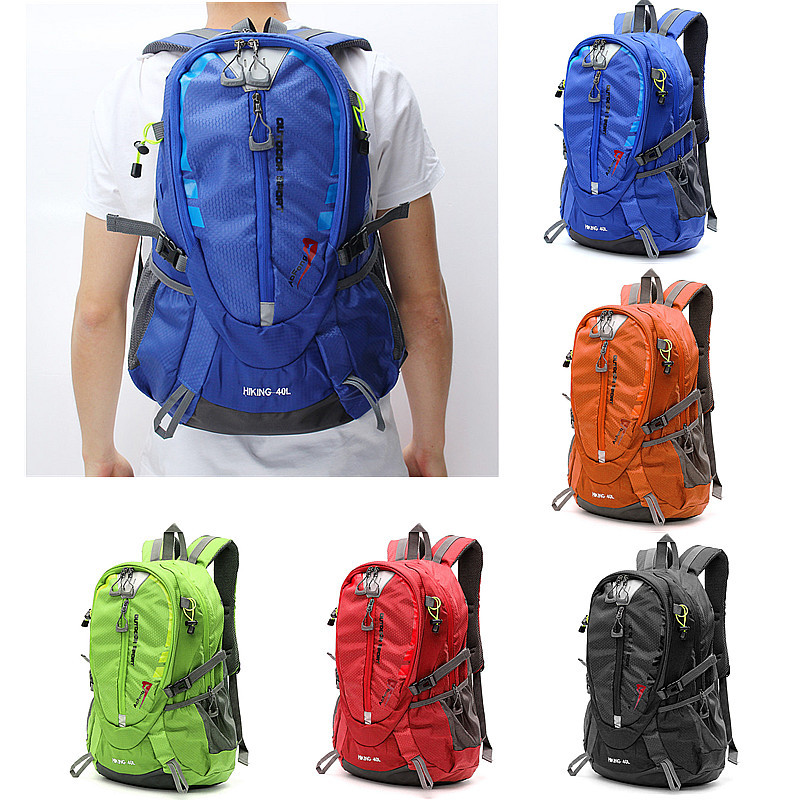 40L Outdoor Tactical Backpack Nylon Travel Unisex Waterproof Sport Luggage Rucksack Sports Large Capacity Hiking Camping Bag
