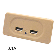 Usb-Charger Motorhome Light Indicator RV Travel Socket-Power Multi-Protection Dual-Outlet