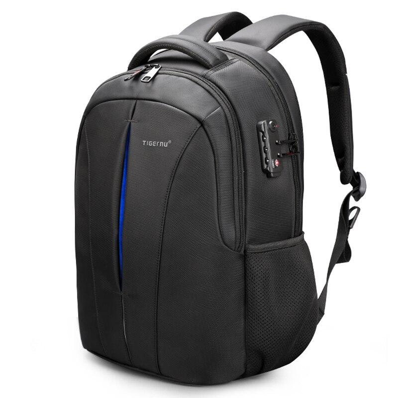 """Tigernu marka USB ładowania mężczyzna Mochilas 15.6 """"Laptop wodoodporne plecaki dla mężczyzn przeciw kradzieży plecak szkolny kobiet na co dzień podróży w Plecaki od Bagaże i torby na  Grupa 1"""