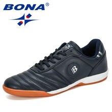 Bona новые дизайнерские мужские уличные футбольные туфли кожаные