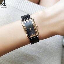 Sk новые женские модные наручные часы с бриллиантами черные