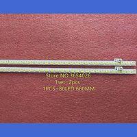 2 pçs/set 660mm led backlight strip 80leds para sharp LCD 60UF30A barra de luz RB201WJ AL 151004b tela MA753 0 LM41 00090|Efeito de Iluminação de palco| |  -