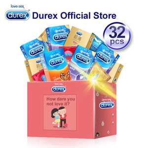 Durex Condom Mix 32Pcs Ultra Thin Intimate Goods Contraception Sex Products Natural Rubber