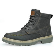 Очень теплая Высококачественная зимняя кожаная обувь Нескользящие