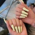 Накладные ногти с длинным гроб, 24 шт., съемные накладные ногти сплошного цвета, накладные ногти с полным покрытием, накладные ногти для дизай...