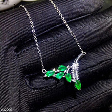 Jewelry 925 Sterling Silver Natural Emerald Gemstone Female Pendant Necklace Facet Geometry New Support Detection real s925 sterling silver necklace pure emerald pendant bizuteria gemstone silver 925 jewelry green emerald pendant for women