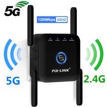 5G WiFi Repeater WiFi Verstärker 5Ghz WiFi Lange Range Extender 1200M Wireless Wi Fi Booster Hause Wi-Fi internet Signal Verstärker