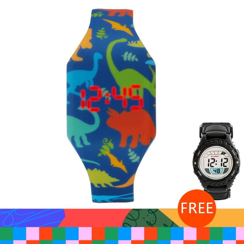 Hot Cartoon Children's Watches Cute LED Digital Watch Kids Student Electronic Watch Dinosaur Clock For Girls Boys Reloj Infantil