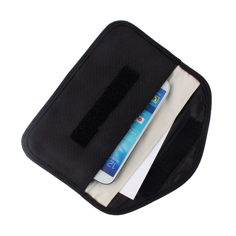 6 Inch <font><b>GSM</b></font> <font><b>3G</b></font> <font><b>4G</b></font> <font><b>LTE</b></font> GPS RF RFID Signal Blocking Bag Anti-Radiation Signal Shielding Pouch Wallet Case for Cell Phone image