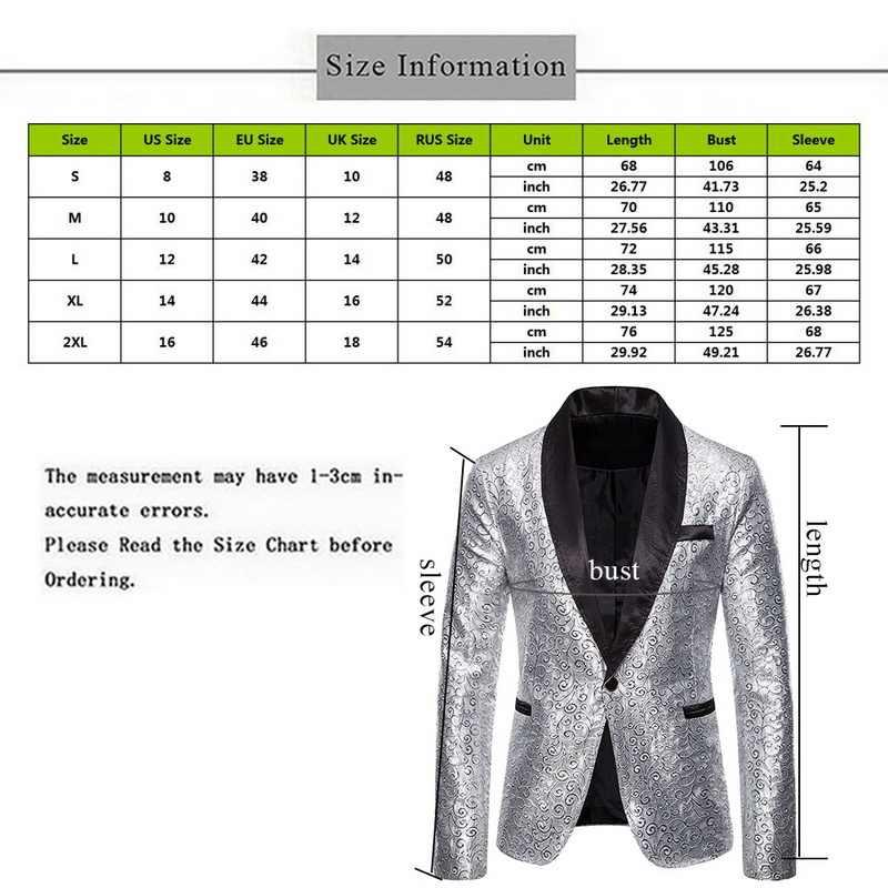 2020 新しい男性光沢のあるスパンコールプリントラペルブレザーデザインゴールドシルバースパンコールスーツジャケット dj クラブステージナイトクラブの服