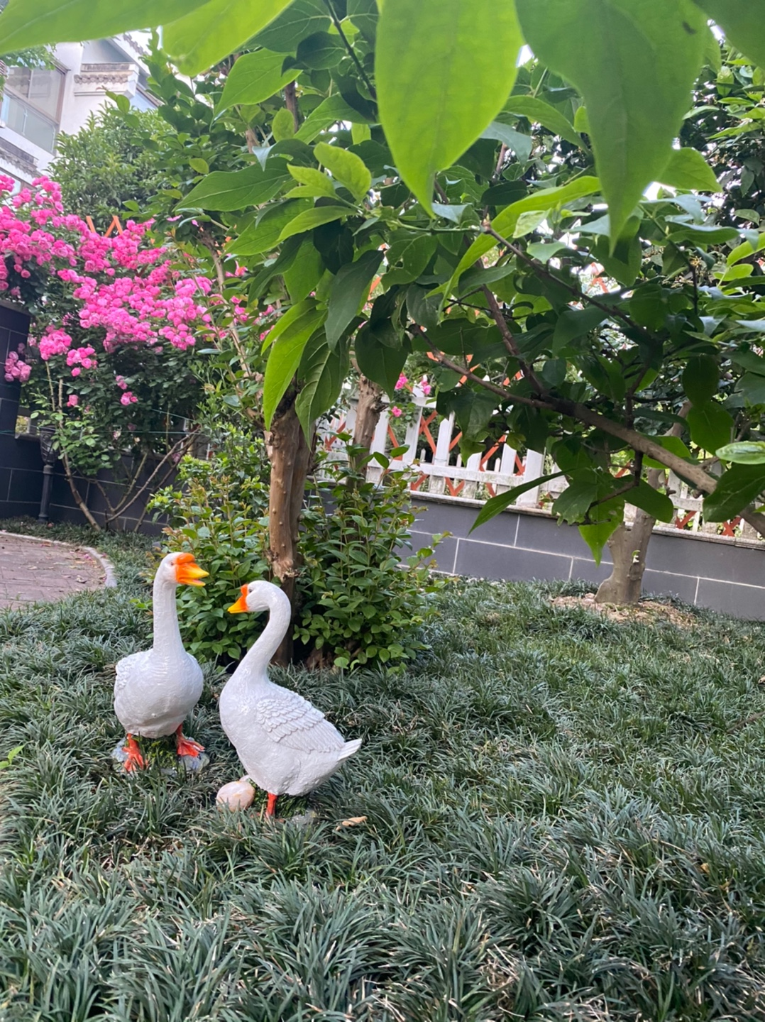 Simulation Swan Sculpture Lawn Garden Decor Decoration Outdoor Landscape Duck Statue Gardening Sculptures Resin Animal Craft