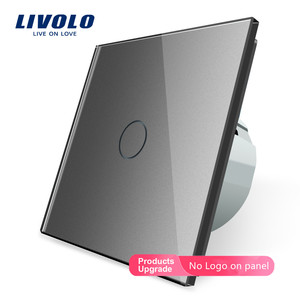Livolo EU Standard Switch Wall Touch Switch Luxury White Crystal Glass, 1 Gang 1 Way Switch, AC 220-250 C701-11/2/3/5(China)