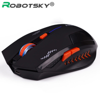 2.4Ghz Gaming Wireless Mouse Slient 2400 DPI 6 Buttons USB Mouse Ergonomic Design Scrub Black Noiseless Mouse for PC Laptop|Mice|   -