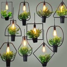 Вавилон растение кулон огни DIY небо садовая Светодиодная лампа Khelse цветочный горшок подвесной светильник столовая Ресторан Кафе подсветка для растений