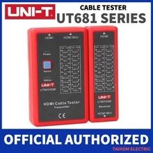 Testeur de câbles de réseau numérique RJ45/RJ11/BNC/HDMI LAN, outil de réparation téléphonique, Auto Ethernet, UNI T lignes, LED