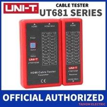 UNI T Digitale Cavo di Rete Tester RJ45/RJ11/BNC/HDMI LAN Auto Ethernet Telefono Strumento di Riparazione LED Linea checker
