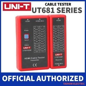 Image 1 - UNI T דיגיטלי כבל רשת בודק RJ45/RJ11/BNC/HDMI האוטומטי LAN Ethernet טלפון תיקון כלי LED קו בודק