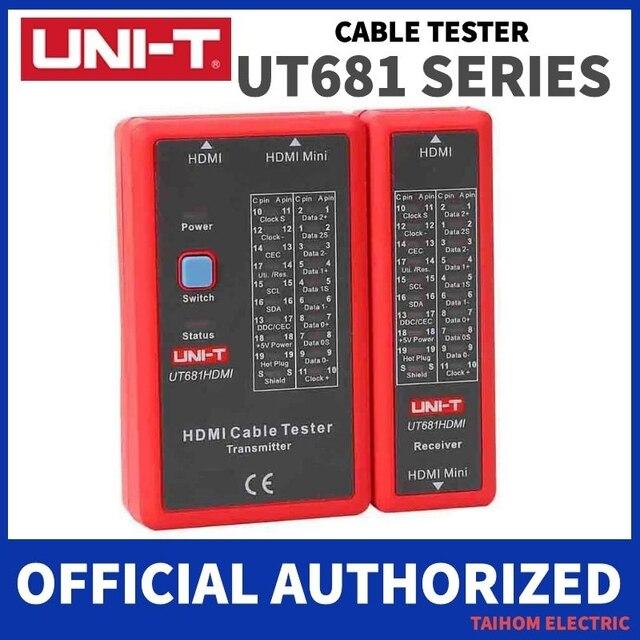 UNI T اختبار كابل الشبكة الرقمية RJ45/RJ11/BNC/HDMI LAN السيارات إيثرنت أداة إصلاح الهاتف LED خط مدقق