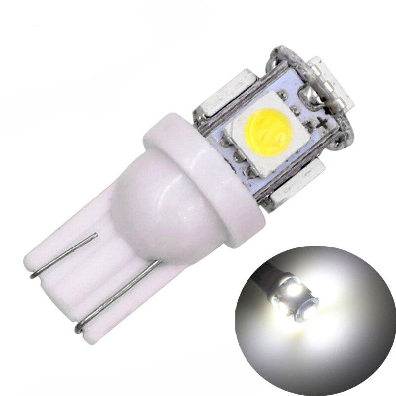 T10 501 W5W Wedge interior BLUE LED 5-SMD car bulbs