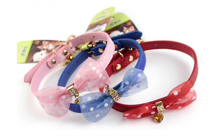 Gold Panda Bow Lace Cat Dog Neck Ring Safety Buckle Cat Bell Collar Bow Gold Leaf Collar