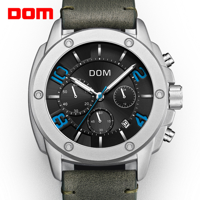 DOM Watch Men Fashion Sport Quartz Clock Mens Watches Top Brand Luxury Business Waterproof Watch Relogio Masculino M 1229L 1M2