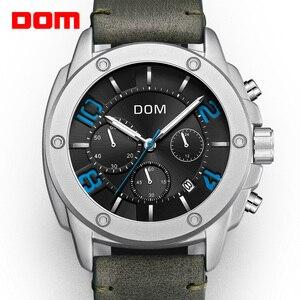Image 1 - DOM montre de Sport pour hommes, horloge à Quartz, marque de luxe, étanche, style M 1229L 1M2