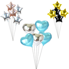 5Pcs 18inch Gold blue Foil Star Balloon heart Wedding Balloons Baby Shower Christmas red green Kids Birthday Party Globos