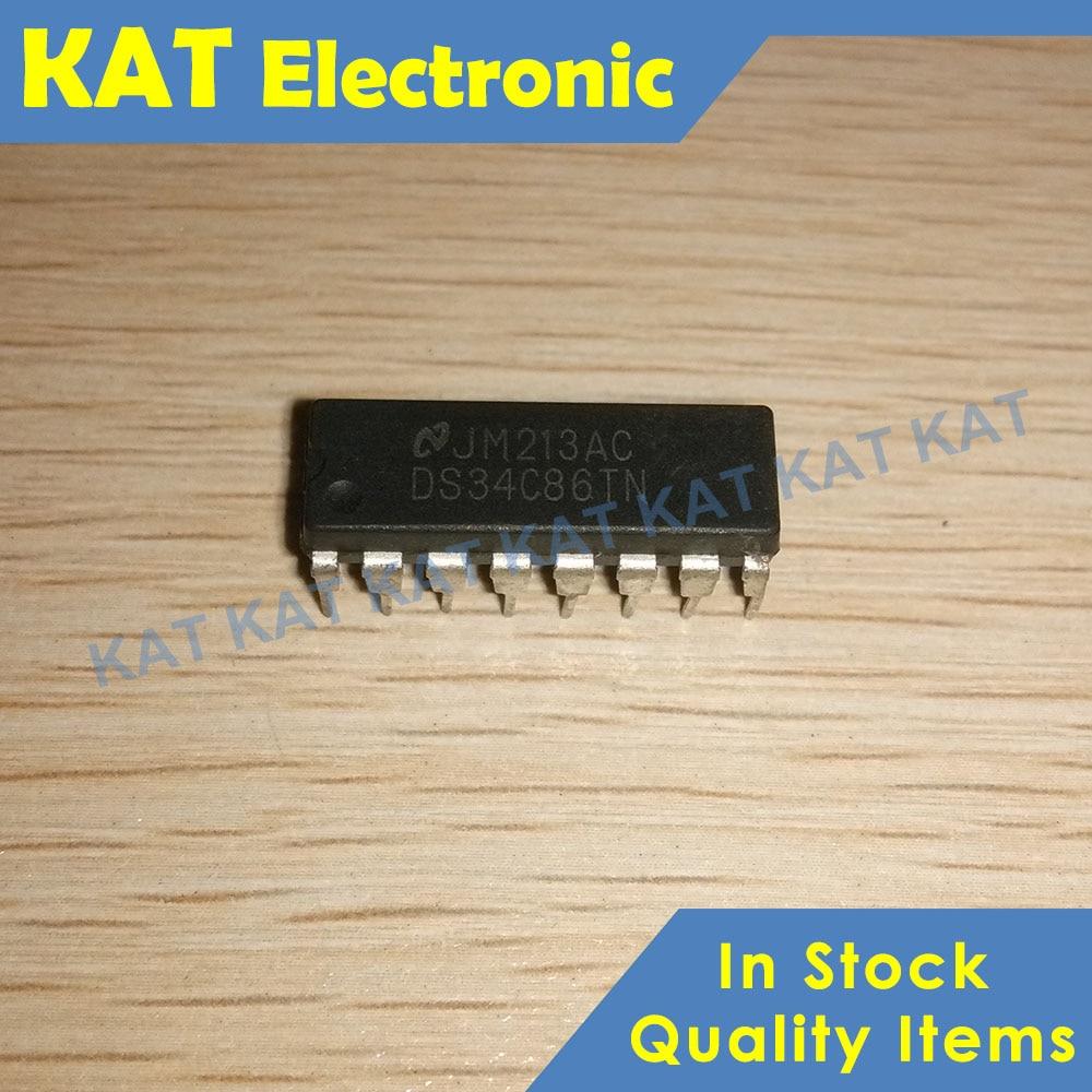 5PCS/Lot DS34C86TN DS34C86T DIP-16 Quad CMOS Differential Line Receiver