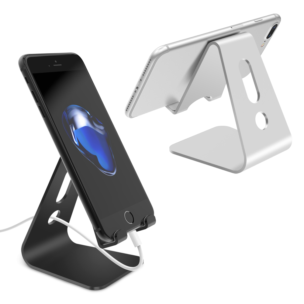 Hot Sale Universal Aluminium Alloy Desk Holder Mobile Phone For Charging Stand Cradle Mount IPAD Tablet Support Most Phone