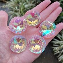 Attrape-soleil en forme de prisme, 10 pièces, 30mm, en verre, pendentif, Chakra à facettes, décoration de maison, fenêtre de mariage, Figurine