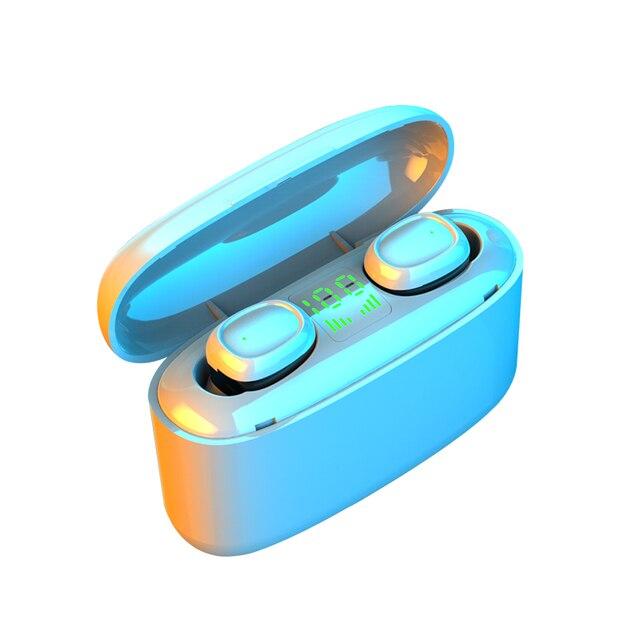 KUGE Wireless Earphone Bluetooth V5.0 F9 TWS Wireless Bluetooth Headphone LED Display With 2000mAh Power Headset With Microphone 5