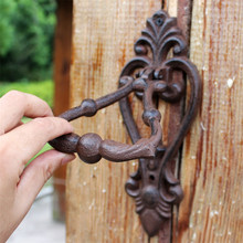 2 Cast Iron Door Knocker Vintage Metal Handle Latch Gate Decoration Home Shop Store Office Wrought Ornate