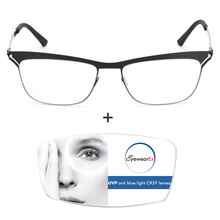 Women Men Screwless Mission Impossible Cateye Anti Blue Light Prescription