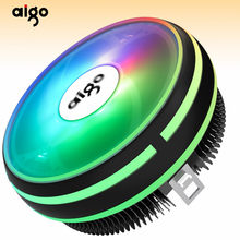 Aigo CPU Cooler LED 120 Mm CPU Cooling Fan CPU Cooler LGA/115X/775/AM3/AM4 4Pin PC CPU Pendingin Radiator Heat Sink I3/I5/CPU Penggemar(China)