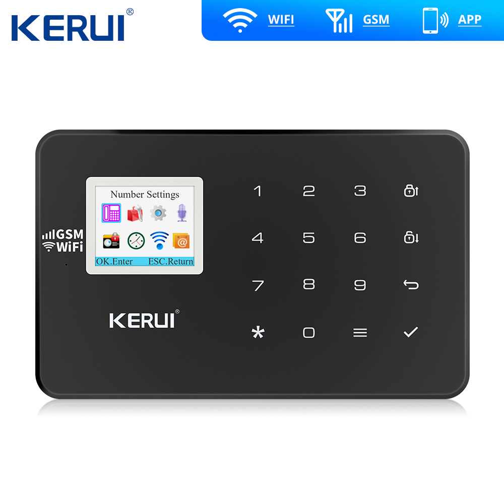 Kerui W18 Drahtlose Wifi Home Alarm GSM IOS Android APP Control LCD GSM SMS Einbrecher Alarm System Für Home Security alarm